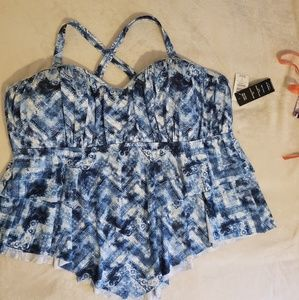 TORRID Womens Plus Size 5/5X Tankini Swimsuit Top